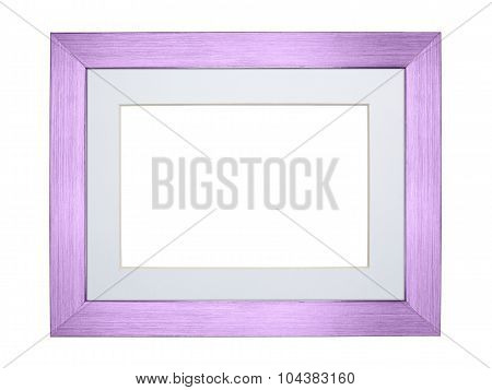 Purple Silver Frame Isolated On White