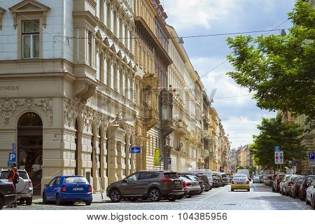 The architecture of the Nove Mesto, old town, Prague