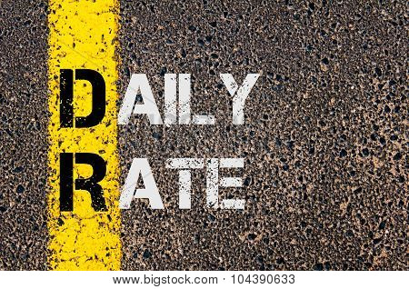 Business Acronym Dr As Daily Rate