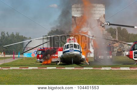 Demonstration Performances Of Rescuers Of Ministry Of Emergency Si