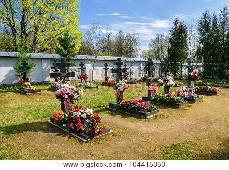 Monastery Cemetery, Varlaamo-khutyn Transfiguration Monastery In Veliky Novgorod