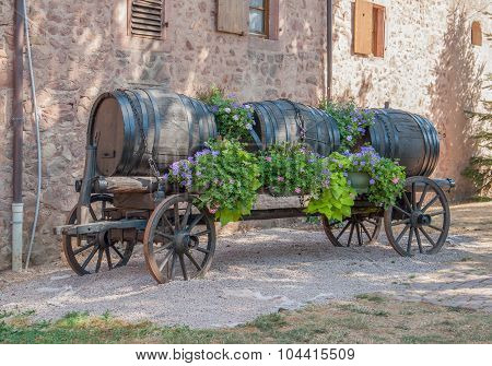 Casks On A Carriage