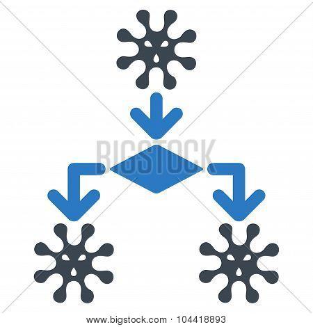 Virus Reproduction Icon