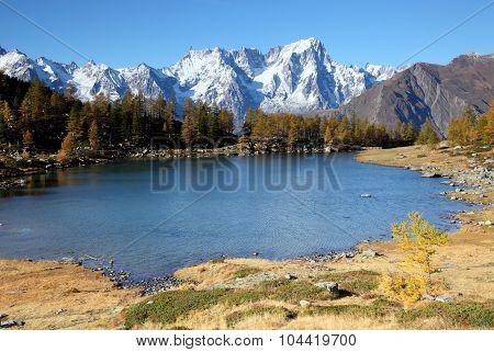 autumn landscape near Mont Blanc