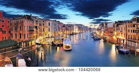 Panorama Of Venice From Rialto Bridge
