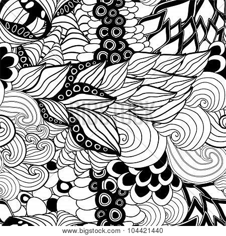 Vector Seamless Seashell Pattern. Sea Design