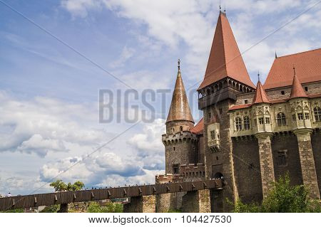 Corvin Castle or Hunyadi Castle in Hunedoara, Romania.