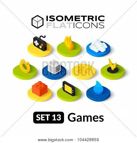 Isometric flat icons set 13