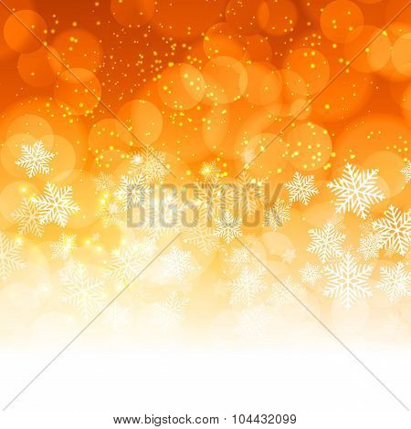 Winter snowflakes background
