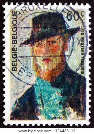 Postage Stamp Belgium 1966 Rik Wouters, Self-portrait