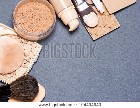 Makeup Products To Even Out Skin Tone And Complexion Background