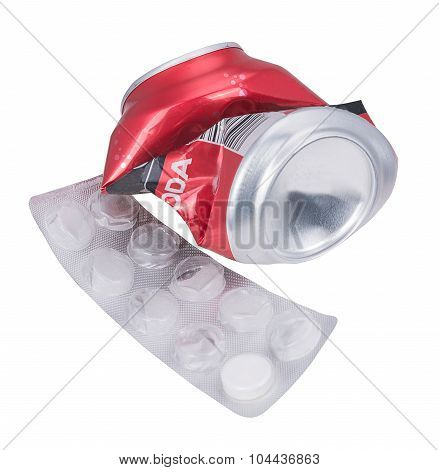 Soda Can And Tablets