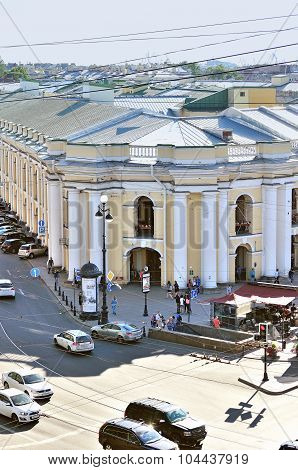 The Building Of The Gostiny Dvor On Nevsky Prospect - Panorama From Height