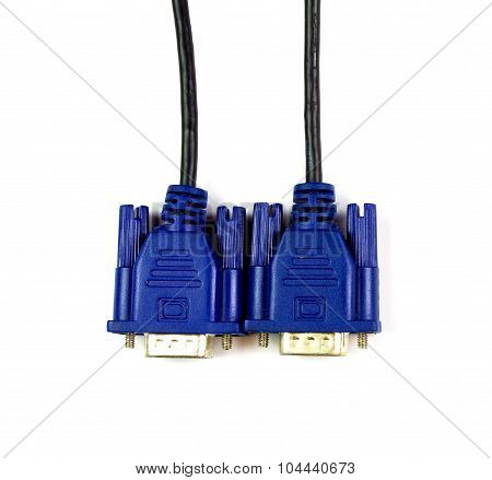 Vga Cable On White Background, Isolated