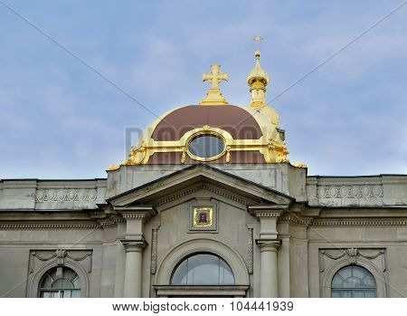 Facade Of Grand Ducal Burial Vault Imperial House Of Romanov Dynasty In The Peter And Paul Cathedral