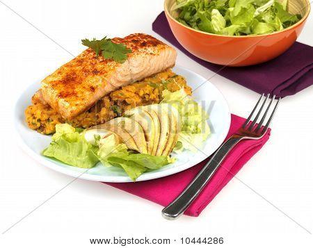 Salmon with Sweet Potato