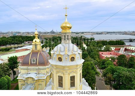 Bird's Eye View Panorama Of Saint-petersburg, Russia