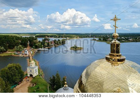 Nilo-stolobensky Monastery From Height