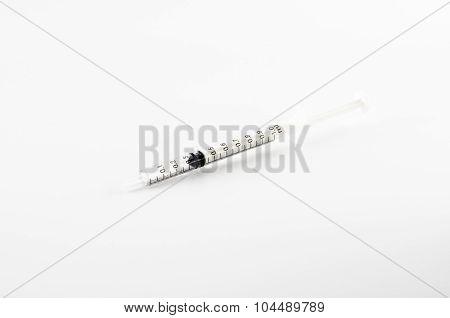 Small Syringe On White Background,small Syringe For Pet Hospital