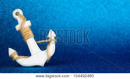 anchor in the sea floor