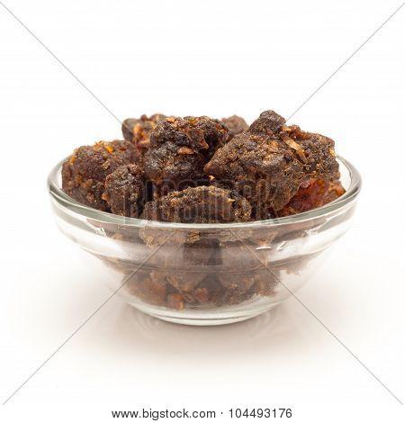 Bowl of Organic Indian bdellium.