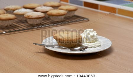 Mince Pie With Cream