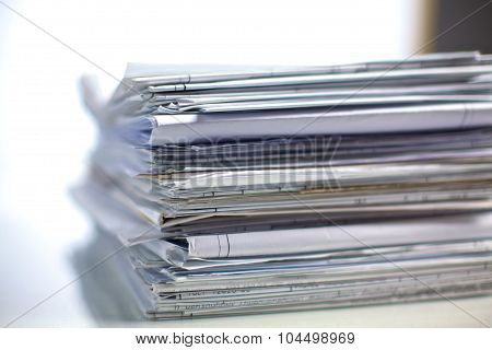 File Stack, file folder with white background
