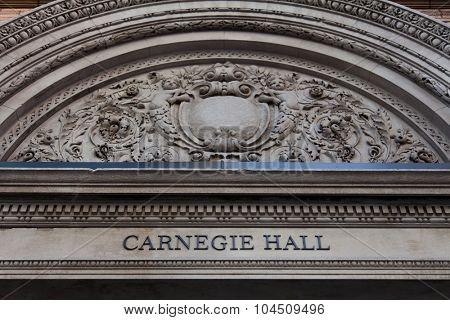 NEW YORK CITY, USA - SEPTEMBER, 2014: Carnegie Hall in New York City