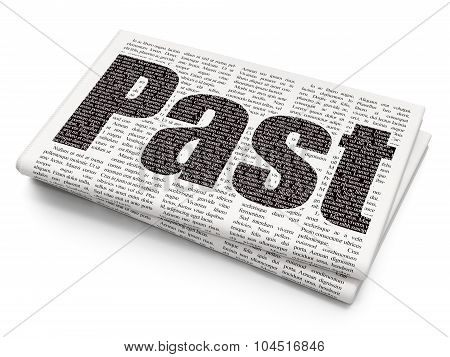 Time concept: Past on Newspaper background