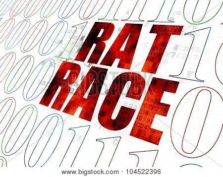 Finance concept: Rat Race on Digital background