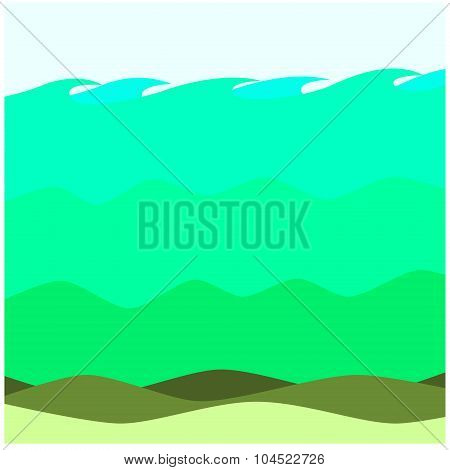 beautiful water ecosystem of the sea in background poster