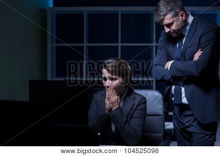 Scared Secretary And Cruel Boss