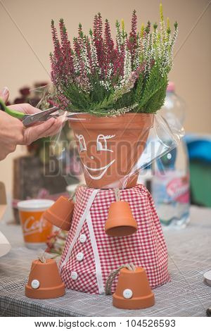 potsherd doll, creative DIY work