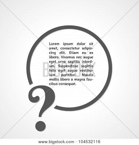 Question Mark Symbol And Circle