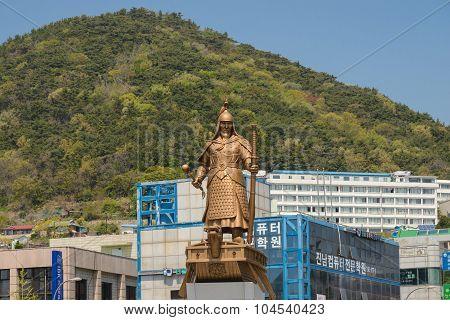 Monument of Korean wartime hero