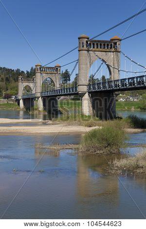Pont of Langeais in Indre-et-Loire Centre France poster