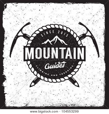 Mountain Guides Vintage Emblem
