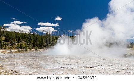 Eruption At Oblong Geyser