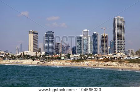 Panoramic View From Waterfront Of Tel Aviv-yafo And Mediterranean Sea, Tel Aviv