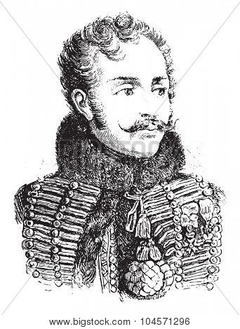 Lasalle, vintage engraved illustration. History of France 1885.