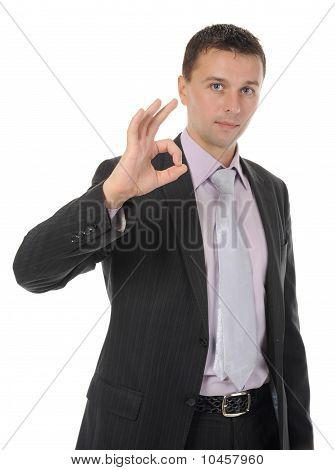 man handing a blank