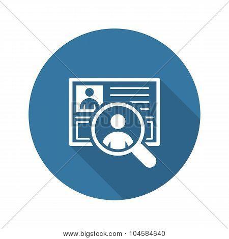 Recruitment Icon. Business Concept. Flat Design.
