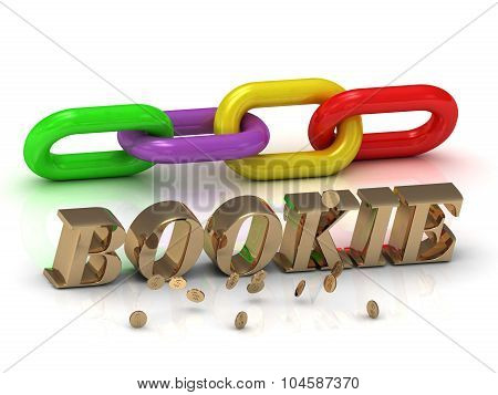 Bookie- Inscription Of Bright Letters And Color Chain