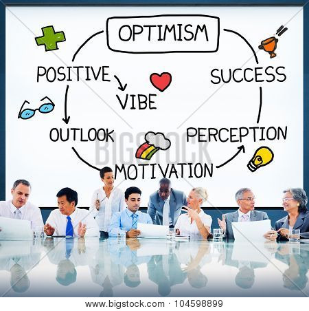 Optimism Positive Outlook Vibe Perception Vision Concept