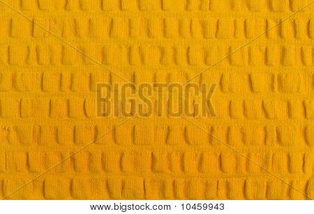 Yellow Seersucker Cotton Cloth Close Up Background poster
