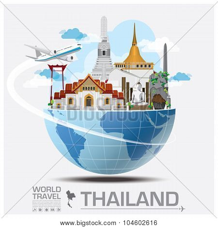 Thailand Landmark Global Travel And Journey Infographic