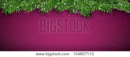 Winter abstract background with spruce twigs. Christmas vector wallpaper. Eps10.