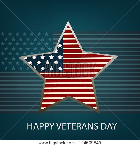 Illustration Of Stars With U.s.a Flag For Veterans Day Eps 10 Vector
