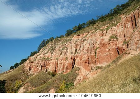 Geological reserve. The ravine of Rapa Rosie Romania poster