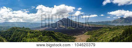 Batur Volcano And Agung Mountain, Bali